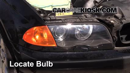2001 BMW 325i 2.5L 6 Cyl. Sedan Lights Headlight (replace bulb)