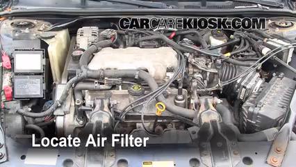 2001 Chevrolet Impala 3.4L V6 Filtre à air (moteur)