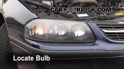 2001 Chevrolet Impala 3.4L V6 Luces Luz de marcha diurna (reemplazar foco)