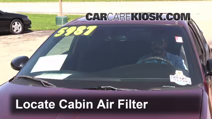 2001 Chevrolet Monte Carlo LS 3.4L V6 Filtro de aire (interior) Cambio