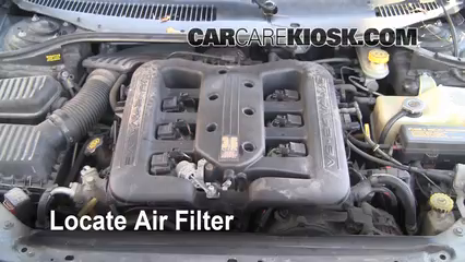 2001 Chrysler LHS 3.5L V6 Filtre à air (moteur) Changement