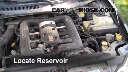2001 Chrysler LHS 3.5L V6 Liquide essuie-glace Vérifier le niveau de liquide