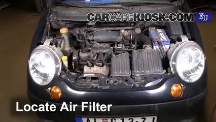 2001 Daewoo Matiz SE 0.8L 3 Cyl. Air Filter (Engine)