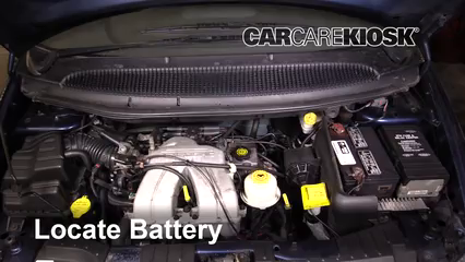2001 Dodge Caravan SE 2.4L 4 Cyl. Battery Replace