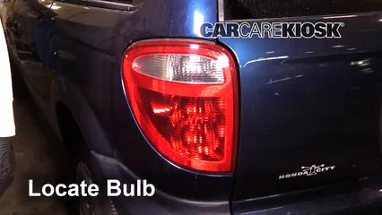2001 Dodge Caravan SE 2.4L 4 Cyl. Lights Turn Signal - Rear (replace bulb)