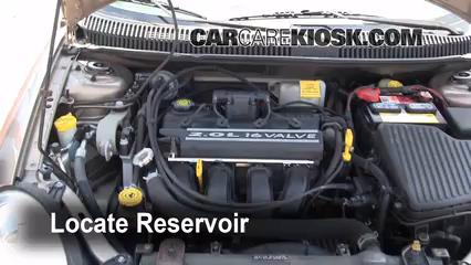 2001 Dodge Neon 2.0L 4 Cyl. Windshield Washer Fluid