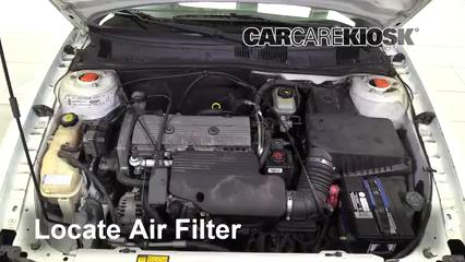 2001 Oldsmobile Alero GL 2.4L 4 Cyl. Sedan (4 Door) Air Filter (Engine)