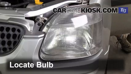 2001 Opel Agila Design 1.3L 3 Cyl. Luces Luz de carretera (reemplazar foco)