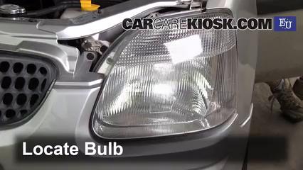 2001 Opel Agila Design 1.3L 3 Cyl. Luces Luz de giro delantera (reemplazar foco)