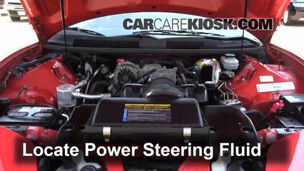2001 Pontiac Firebird 3.8L V6 Convertible Power Steering Fluid