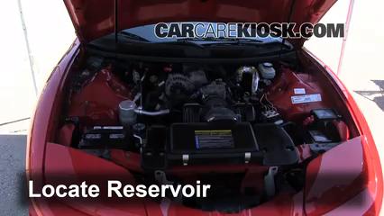 2001 Pontiac Firebird 3.8L V6 Convertible Windshield Washer Fluid