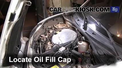 2001 Renault Kangoo Energy 1.4L 4 Cyl. Aceite Agregar aceite