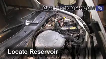 2001 Renault Kangoo Energy 1.4L 4 Cyl. Líquido limpiaparabrisas Agregar líquido