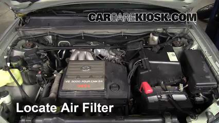2001 Toyota Highlander 3.0L V6 Filtro de aire (motor)