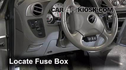 Interior Fuse Box Location: 2002-2006 Acura RSX - 2002 Acura RSX ...