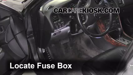 Interior Fuse Box Location: 1999-2003 Acura TL - 2002 Acura TL 3.2L V6