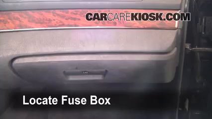 interior fuse box location: 1997-2003 bmw 530i