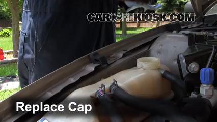 6  replace cap secure the coolant reservoir cap