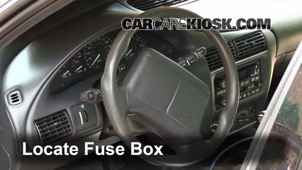 interior fuse box location 1995 2005 chevrolet cavalier. Black Bedroom Furniture Sets. Home Design Ideas