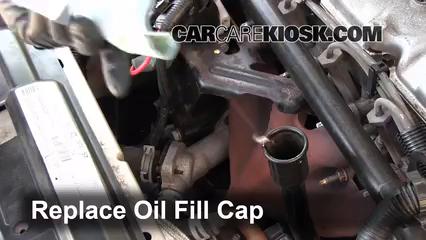 How to add oil chevrolet cavalier 1995 2005 2002 for Motor oil for 2002 chevy cavalier