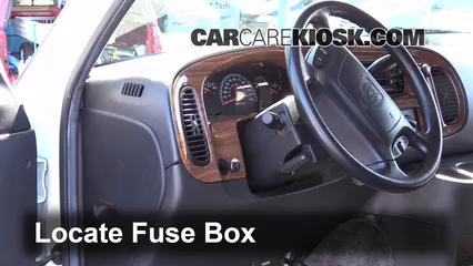 interior fuse box location: 1994-2003 dodge ram 1500 van