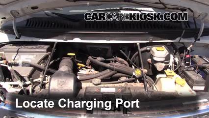Air Conditioning Fill Part on 2002 Dodge Dakota Belt