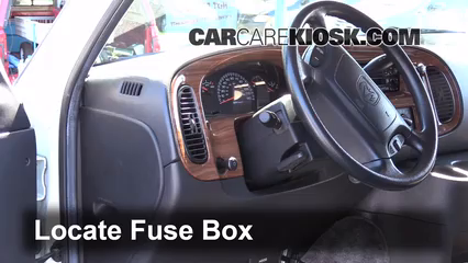interior fuse box location: 1994-2003 dodge ram 1500 van