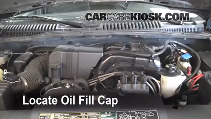2002 Ford Explorer XLT 4.0L V6 Oil Add Oil