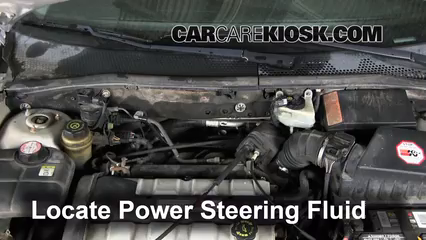 2002 Ford Focus ZX3 2.0L 4 Cyl. Power Steering Fluid Check Fluid Level