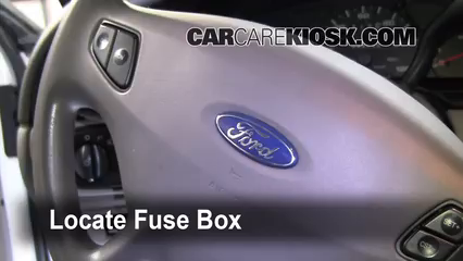 interior fuse box location: 2000-2007 ford taurus