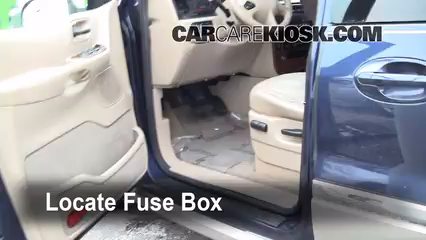 interior fuse box location 1999 2003 ford windstar 2002 ford ford windstar fuse location locate interior fuse box and remove cover