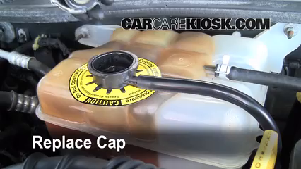 secure the coolant reservoir cap