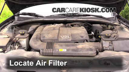 2002 Lincoln LS 3.9L V8 Air Filter (Engine) Check