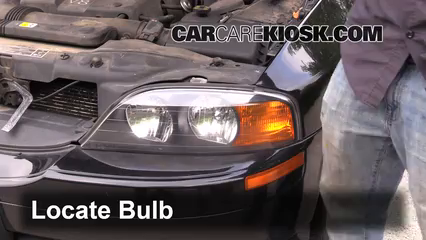 2002 Lincoln LS 3.9L V8 Lights Highbeam (replace bulb)