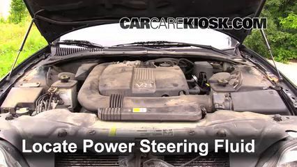 2002 Lincoln LS 3.9L V8 Power Steering Fluid Fix Leaks