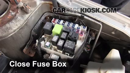 blown fuse check 1999 2003 mazda protege 2002 mazda protege es 2 0 2010 mazda engine fuse box 6 replace cover secure the cover and test component