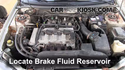 2002 Mazda Protege ES 2.0L 4 Cyl. Brake Fluid Check Fluid Level