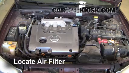 air filter how-to: 2000-2003 nissan maxima