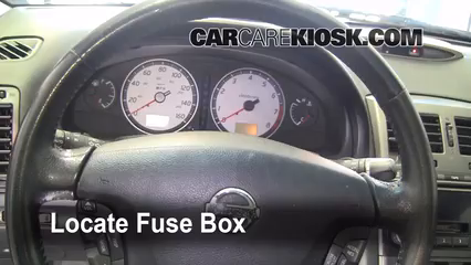 interior fuse box location 2000 2003 nissan maxima 2002 2000 Nissan Maxima Wont Start