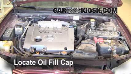 2002 Nissan Maxima GLE 3.5L V6 Oil Add Oil