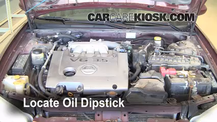 2002 Nissan Maxima GLE 3.5L V6 Oil Check Oil Level