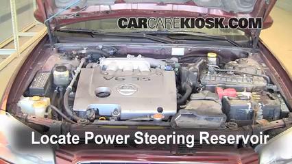 2002 Nissan Maxima GLE 35L V6 Power Steering Fluid Fix Leaks