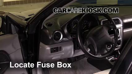 Interior Fuse Box Location: 2000-2004 Subaru Legacy - 2004 Subaru Legacy L  2.5L 4 Cyl. WagonCarCareKiosk