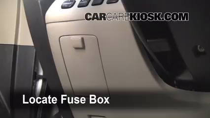 interior fuse box location: 2001-2007 toyota highlander