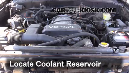 how to add coolant: toyota sequoia (2001-2007)