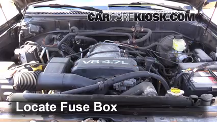 replace a fuse 2001 2007 toyota sequoia 2002 toyota sequoia sr5 rh carcarekiosk com 2004 toyota sequoia fuse box location