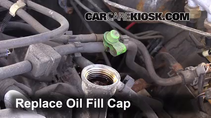 replace cap put the oil fill cap back on the engine