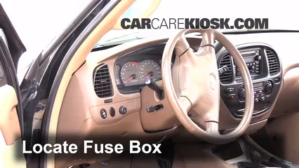 interior fuse box location: 2001-2007 toyota sequoia