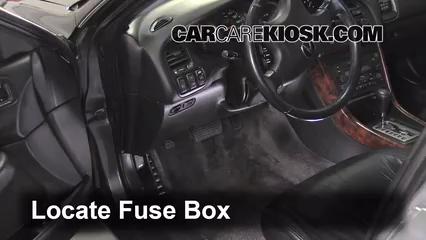 Interior Fuse Box Location: 1999-2003 Acura TL - 2003 Acura TL Type-S 3.2L  V6 | Acura El Fuse Box |  | CarCareKiosk