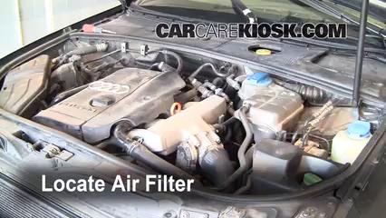 2002 Audi A4 Quattro 1.8L 4 Cyl. Turbo Filtro de aire (motor)